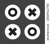 flat o and x round shape icons  ...   Shutterstock .eps vector #1006912750