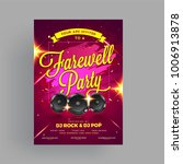 farewell party banner  or... | Shutterstock .eps vector #1006913878