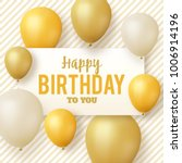 happy birthday greeting card  ... | Shutterstock .eps vector #1006914196
