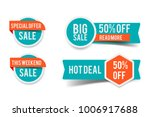 sale round banner set  circle... | Shutterstock .eps vector #1006917688