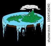 concept of a flat world  a... | Shutterstock .eps vector #1006918240