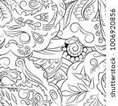 seamless mehndi vector pattern. ... | Shutterstock .eps vector #1006920856