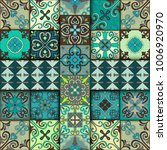 seamless pattern with... | Shutterstock .eps vector #1006920970