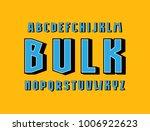 geometric sans serif bulk font. ... | Shutterstock .eps vector #1006922623