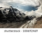 View at the Grossglockner mountain - stock photo