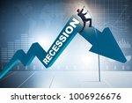 businessman pole vaulting over...   Shutterstock . vector #1006926676