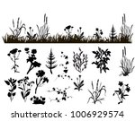 silhouette grass and plants | Shutterstock .eps vector #1006929574