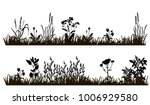 isolated silhouette of grass... | Shutterstock .eps vector #1006929580