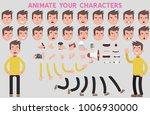 flat vector guy character for... | Shutterstock .eps vector #1006930000