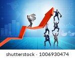 businessman supporting growtn... | Shutterstock . vector #1006930474