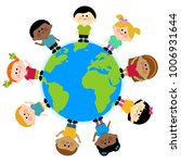 a happy multicultural group of... | Shutterstock . vector #1006931644