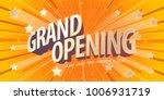 grand opening vector banner ... | Shutterstock .eps vector #1006931719