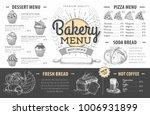 vintage bakery menu design.... | Shutterstock .eps vector #1006931899
