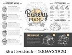 vintage bakery menu design.... | Shutterstock .eps vector #1006931920