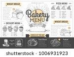 vintage bakery menu design.... | Shutterstock .eps vector #1006931923