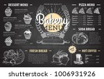 vintage chalk drawing bakery... | Shutterstock .eps vector #1006931926