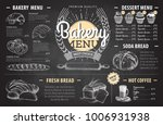 vintage chalk drawing bakery... | Shutterstock .eps vector #1006931938
