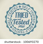 vector retro self tried and... | Shutterstock .eps vector #100693270