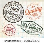 vector retro teal vintage... | Shutterstock .eps vector #100693273