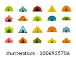 tent icon set. flat set of tent ...   Shutterstock .eps vector #1006935706