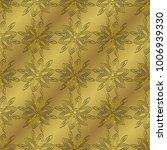 gold metallic regular seamless...   Shutterstock . vector #1006939330