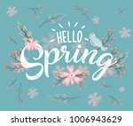 hello spring hand sketched... | Shutterstock .eps vector #1006943629