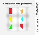 complete the picture  geometric ... | Shutterstock .eps vector #1006943800