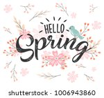 hello spring hand sketched...   Shutterstock .eps vector #1006943860