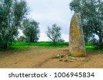 the menir dos almendres ... | Shutterstock . vector #1006945834