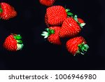 close up red strawberry fruits... | Shutterstock . vector #1006946980
