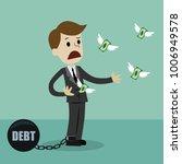 businessman losing his money... | Shutterstock .eps vector #1006949578