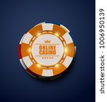 vector yellow casino poker... | Shutterstock .eps vector #1006950139