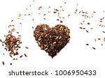 red raw rice  brown rice and... | Shutterstock . vector #1006950433