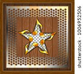 wooden boards and a cutout in... | Shutterstock .eps vector #1006952506
