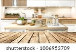 desk in kitchen and free space... | Shutterstock . vector #1006953709