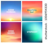 abstract vector sunset blurred... | Shutterstock .eps vector #1006954330