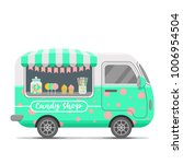 candy shop street food caravan...   Shutterstock .eps vector #1006954504