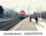 a man takes a little girl off...   Shutterstock . vector #1006955578