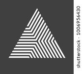 vector hipster triangle... | Shutterstock .eps vector #1006956430