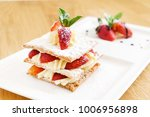 dessert with strawberries | Shutterstock . vector #1006956898