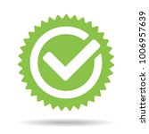green tick mark icon vector... | Shutterstock .eps vector #1006957639