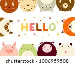 frame with cute funny... | Shutterstock .eps vector #1006959508