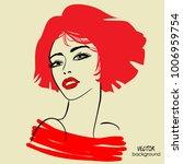 art sketched portrait of ... | Shutterstock .eps vector #1006959754