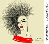 art sketched beautiful girl... | Shutterstock .eps vector #1006959760