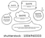 vector collection of scribbled... | Shutterstock .eps vector #1006960333