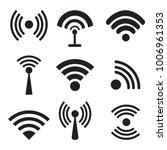 different black vector wireless ...   Shutterstock .eps vector #1006961353