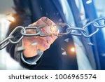 view of a weak link of a broken ... | Shutterstock . vector #1006965574