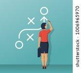 businesswoman standing... | Shutterstock .eps vector #1006965970