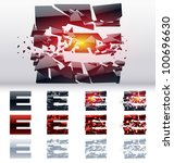 a vector letters set of a... | Shutterstock .eps vector #100696630