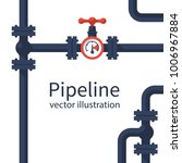 pipeline background. pipe... | Shutterstock .eps vector #1006967884